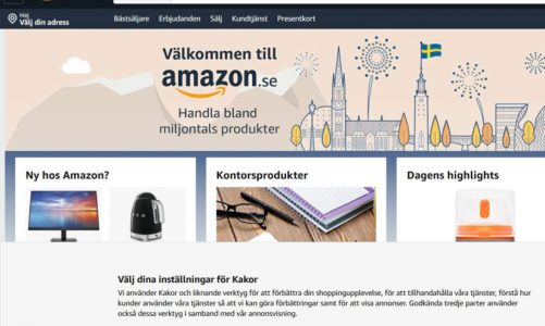 Amazon Sweden open for business