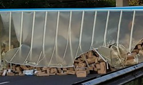 Amazon truck crash closes A27 spilling thousands of parcels