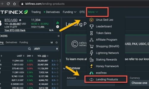 BitFinex + Celsius Integration Adds Earn Rewards from Crypto holdings