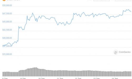 Bitcoin flirts with $50,000 at the end of a lovely week