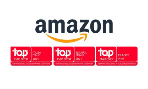 Amazon certified as Top Employer in Italy, Spain and France