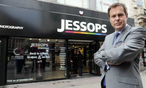 Peter Jones Jessops calls in administrators for second time in just over year