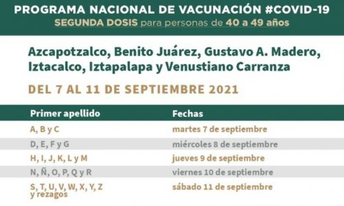 CDMX vaccination, what you should know about the second dose