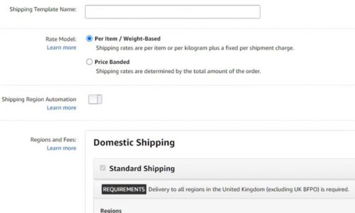 Amazon Shipping Settings Automation for MFN